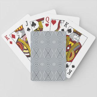 Baralho Cartões de jogo geométricos preto e branco