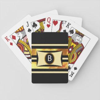 Baralho Cartões de jogo Monogrammed