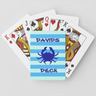 Baralho Cartões de jogo náuticos do tema do caranguejo