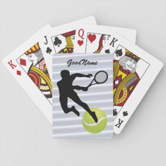 Baralho Cartões de jogo - o tênis, personaliza com nome