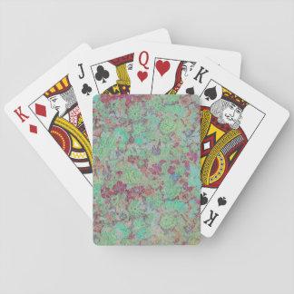 Baralho Cartões de jogo originais do impressão floral