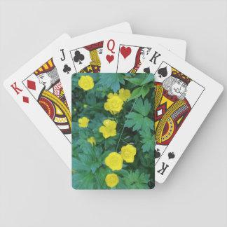 Baralho Cartões de jogo padrão temáticos do botão de ouro