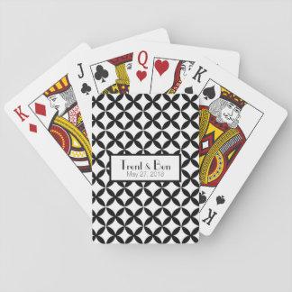 Baralho Cartões de jogo personalizados preto e branco do