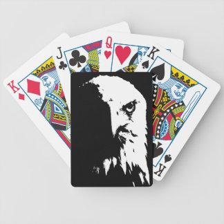 Baralho Cartões de jogo pretos & brancos da águia