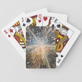 Baralho Cartões de jogo pretos brilhantes da estrela