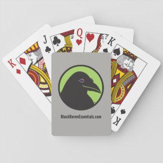 Baralho Cartões de jogo pretos do logotipo dos fundamentos