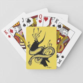 Baralho Cartões de jogo pretos e amarelos do cogumelo do