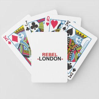 Baralho Cartões de jogo rebelde da bicicleta de Londres