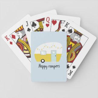 Baralho Cartões de jogo retros do campista do vintage dos