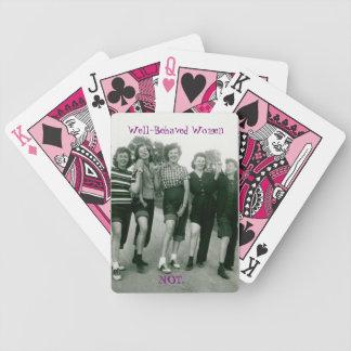 Baralho Cartões de jogo retros/Rockabilly das mulheres
