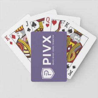Baralho Cartões de jogo roxos brancos de PIVX
