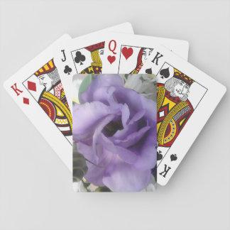 Baralho Cartões de jogo roxos da flor