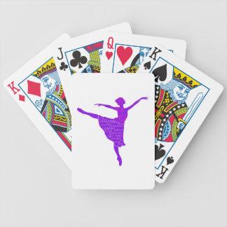 Baralho Cartões de jogo roxos do póquer da bailarina