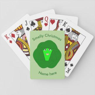 Baralho Cartões de jogo Smelly da couve de Bruxelas do