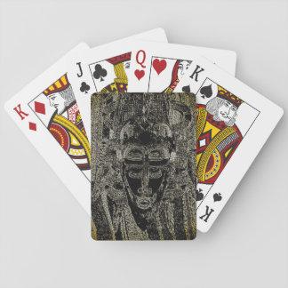 Baralho Cartões de jogo tribais do Voodoo - magia negra