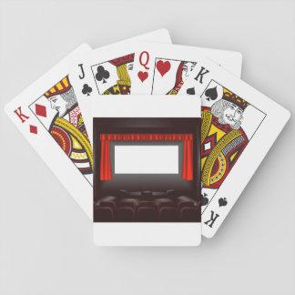 Baralho Cartões de jogo vazios do cinema
