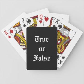 Baralho Cartões de jogo verdadeiros ou falsos, caras