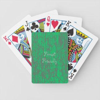 Baralho Cartões de jogo verdes