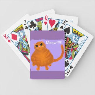 Baralho Cartões de jogo vermelhos carnudos do gato de gato