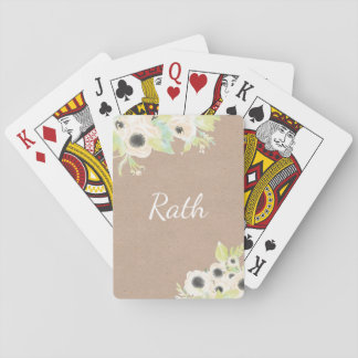 Baralho Cartões de jogo Wedding personalizados monograma