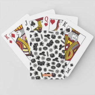 Baralho Cartões de teste padrão do jogo de mesa