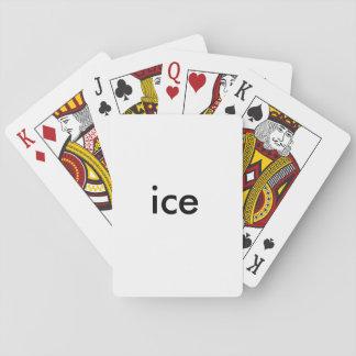 Baralho cartões do gelo