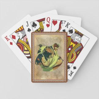 Baralho Cartões do póquer do buldogue: Cartões de jogo