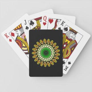 Baralho Cartões espirais geométricos alaranjados verdes