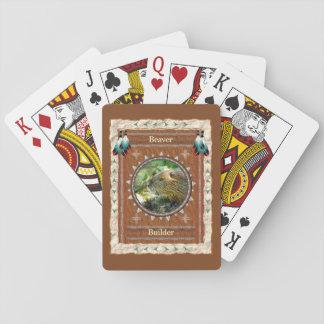 Baralho Castor - cartões de jogo clássicos do construtor