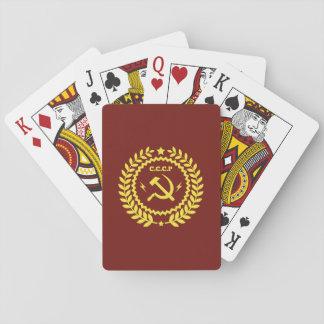 Baralho CCCP Hamer & cartões de jogo do póquer do emblema