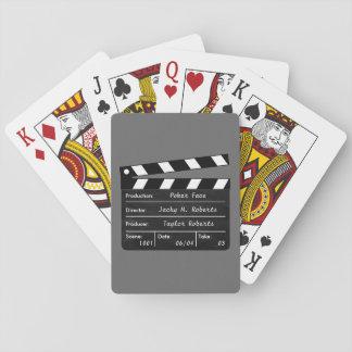 Baralho Clapperboard para suas cenas dos cartões de jogo