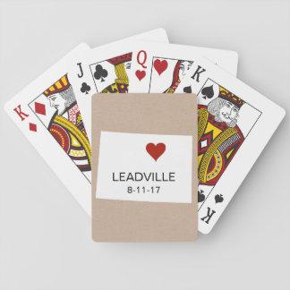 Baralho Colorado personalizou cartões de jogo da cidade