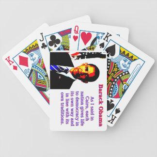 Baralho Como eu disse no Cairo - Barack Obama
