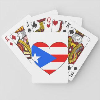 Baralho Coração da bandeira de Puerto Rico
