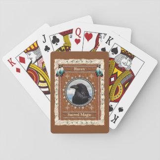 Baralho Corvo - cartões de jogo clássicos mágicos sagrados