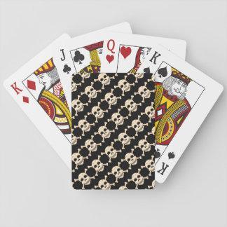 Baralho Crânio & cartões de jogo dos Crossbones