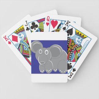 Baralho De Poker A forma fez o elefante