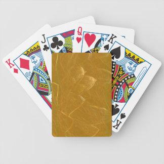 Baralho De Poker Arte artística DOURADA da folha de ouro de LOTUS