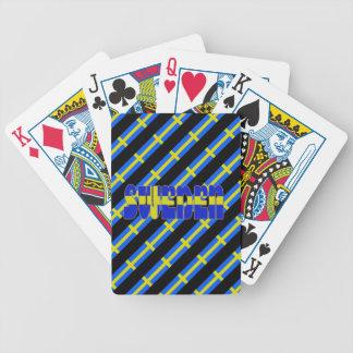 Baralho De Poker Bandeira sueco das listras