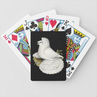 Baralho De Poker Branco do pombo da trompetista