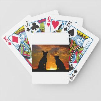 Baralho De Poker Cães no por do sol
