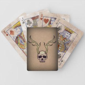 Baralho De Poker Cartões de jogo Horned de Bicycle® do crânio