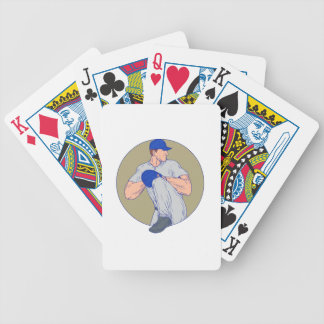 Baralho De Poker Círculo americano Drawin da bola do lance do jarro
