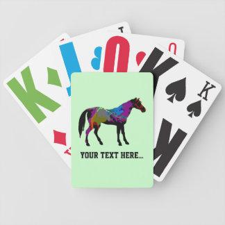 Baralho De Poker Design personalizado do cavalo de raça no verde da