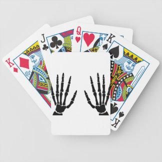 Baralho De Poker Mãos do osso isoladas