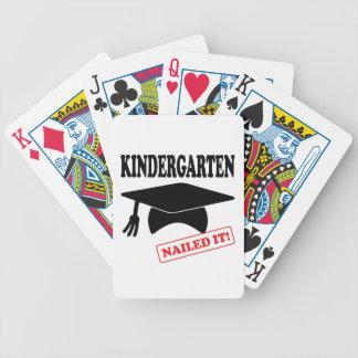 Baralho De Poker O jardim de infância pregou-o