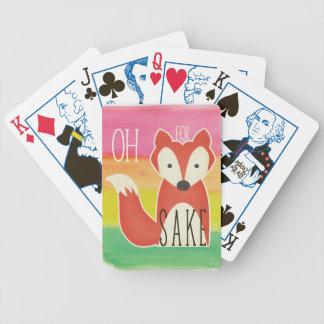 Baralho De Poker Oh para listras da aguarela da causa do Fox