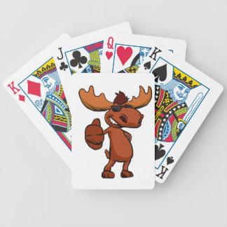 Baralho De Poker Ondulação bonito dos desenhos animados dos alces
