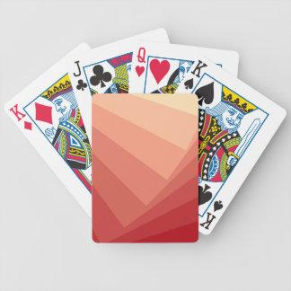 Baralho De Poker Retângulos vermelhos no inclinação