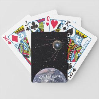 Baralho De Poker Satélite de terra de Sputnik 1